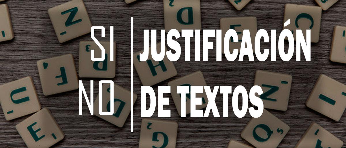 El justificado a ambos lados en los textos